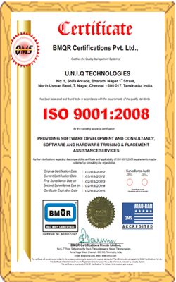 Recognized ISO Certificate