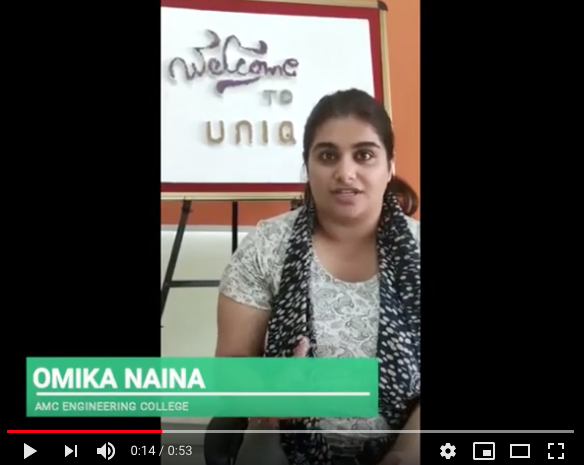 Python Internship in Bangalore – Omika Naina Feedback