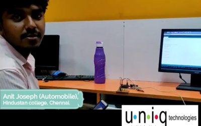Internship Training in Chennai – Anit Joseph Feedback