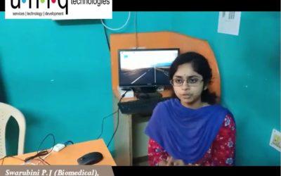 Embedded Internship in Chennai – Swarubini Feedback